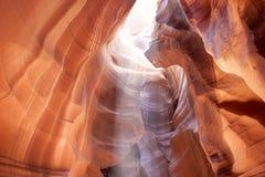 Le canyon supérieur d'antilope en page, Arizona, Etats-Unis l'Inde Photos libres de droits