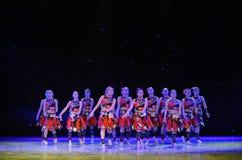 Le canzoni folk di nazionalità di Yao per cantare manifestazione della città universitaria del loudly-The Immagine Stock