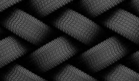 Le caoutchouc noir de pneu Photographie stock