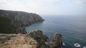 Le cap Roca de Cabo DA Roca forme le continent plus à l'ouest de l'Europe continentale portugal clips vidéos