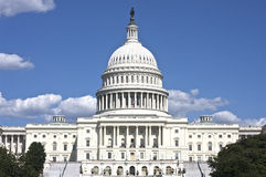 Le capitol des USA dans l'horizontal de Washington DC Photographie stock