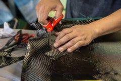 Le capot avant de capot est fait de carbone photographie stock libre de droits