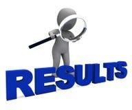 Le caractère de résultats montre le résultat ou les résultats d'amélioration illustration stock