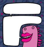 Le caractère rose avec des languettes plus grandes Images libres de droits