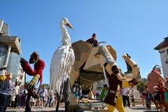 Le Caramantran de França no ` internacional de Art District do ` do festival da rua Fotografia de Stock Royalty Free