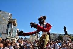 Le Caramantran de França no ` internacional de Art District do ` do festival da rua Fotografia de Stock
