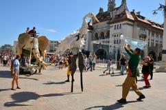 Le Caramantran de França no ` internacional de Art District do ` do festival da rua Imagens de Stock