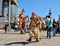 Le Caramantran de França no ` internacional de Art District do ` do festival da rua Imagem de Stock