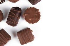 Le caramelle di cioccolato si chiudono in su Fotografia Stock