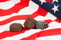 Le caramelle di cioccolato si chiudono in su Immagine Stock Libera da Diritti