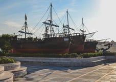 Le caravelle di Christopher Columbus fotografia stock libera da diritti