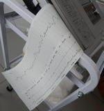 Le cardiographe montre la fréquence cardiaque foetale photo libre de droits