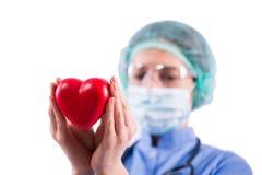 Le cardiologue de docteur d'isolement sur le fond blanc Image libre de droits