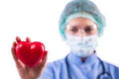 Le cardiologue de docteur sur le fond blanc Photographie stock libre de droits