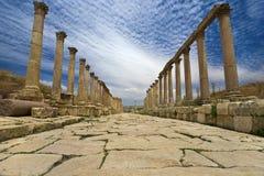 Le Cardo dans Jerash Image stock
