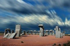 Le carhenge célèbre à un champ à Alliance, Nébraska, Etats-Unis photographie stock