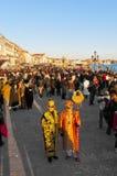 Le carnaval annuel a exécuté à Venise, Italie Photographie stock libre de droits