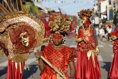 Le carnaval annuel français le 14 février 2010 de la Guyane française Photographie stock libre de droits