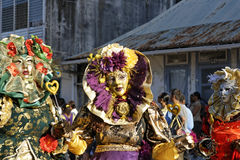 Le carnaval annuel français le 7 février 2010 de la Guyane française Images libres de droits