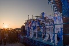 Le carnaval de Viareggio, édition 2019 images libres de droits