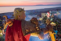 Le carnaval de Viareggio, édition 2019 photo stock