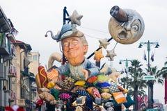 Le carnaval de Viareggio, édition 2019 photo libre de droits