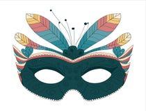 le carnaval fait varier le pas du masque Images stock