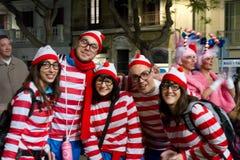 Le carnaval Rectifient-Vers le haut Images libres de droits