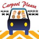 Le Carpool trafiquent svp bloque Images stock