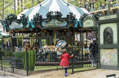 Le Carrousel in Bryant Park in Manhattan in NYC royalty free stock photo