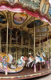 Le Carrousel Paul Cezanne in Aix en Provence. A carousel in Aix en Provence France, Le Carrousel Paul Cezanne, with painted ponies, a swan boat, mermaids and Royalty Free Stock Image