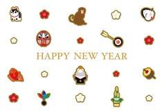 Le carte da 2016 nuovi anni, illustrazione vettoriale
