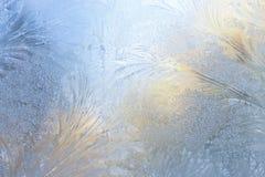 Le carte da parati glassano sul vetro Fotografia Stock Libera da Diritti