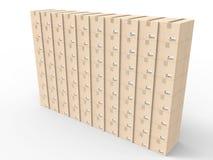 Le carton enferme dans une boîte le mur Photographie stock