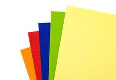 Le carton multicolore goffered Images libres de droits