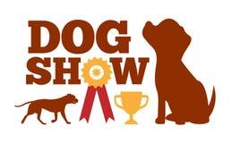 Le carton publicitaire d'exposition canine, Brown poursuit des silhouettes illustration de vecteur