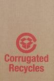 Le carton réutilisent le symbole Photo libre de droits