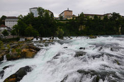 Le cascate del Reno Fotografia Stock Libera da Diritti