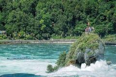 Le cascate del Reno Fotografie Stock Libere da Diritti