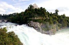 Le cascate del Reno, il più alta cascata in Europa Fotografia Stock Libera da Diritti
