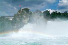 Le cascate del Reno a Neuhausen sulla Svizzera Immagini Stock