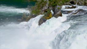 Le cascate del Reno a Sciaffusa, Svizzera video d archivio