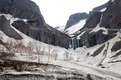 Le cascate della montagna di changbai Fotografie Stock