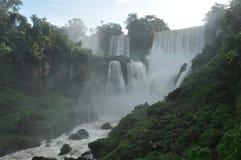 le cascate di Iguazu Immagini Stock