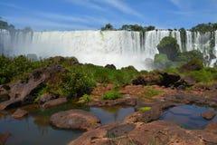 Le cascate di Iguazu belle in Argentina Sudamerica fotografie stock libere da diritti
