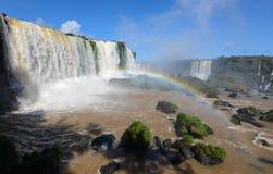 Le cascate di Iguazu, Brasile, Argentina Fotografia Stock Libera da Diritti