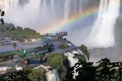 Le cascate di Iguazu, Brasile, Argentina Fotografie Stock Libere da Diritti