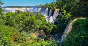 Le cascate di Iguazu dal lato dell'Argentina fotografia stock libera da diritti