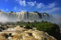 Le cascate di Iguazu, gola dei diavoli, Garganta del Diablo Immagine Stock