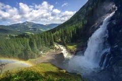 Le cascate di Krimml Fotografie Stock Libere da Diritti